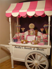 Candy cart for wedding