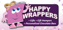 The Wedding Planner Happy Wrappers Personalised Chocolate Bars